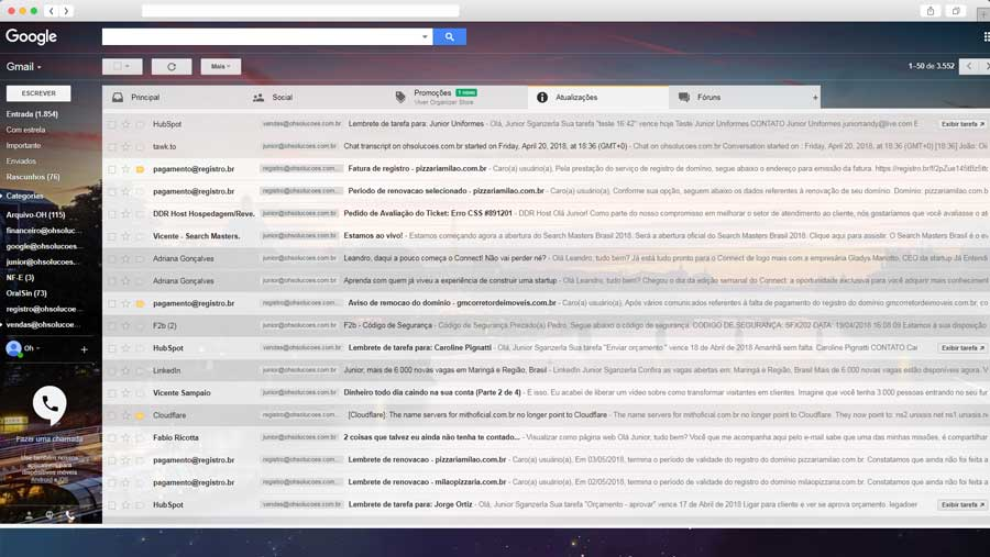Configurar E-mail ( Outlook – LiveMail – ThunderBird – Smartphones – G-mail)